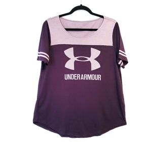 Under Armour | Purple Baseball Graphic Tee M